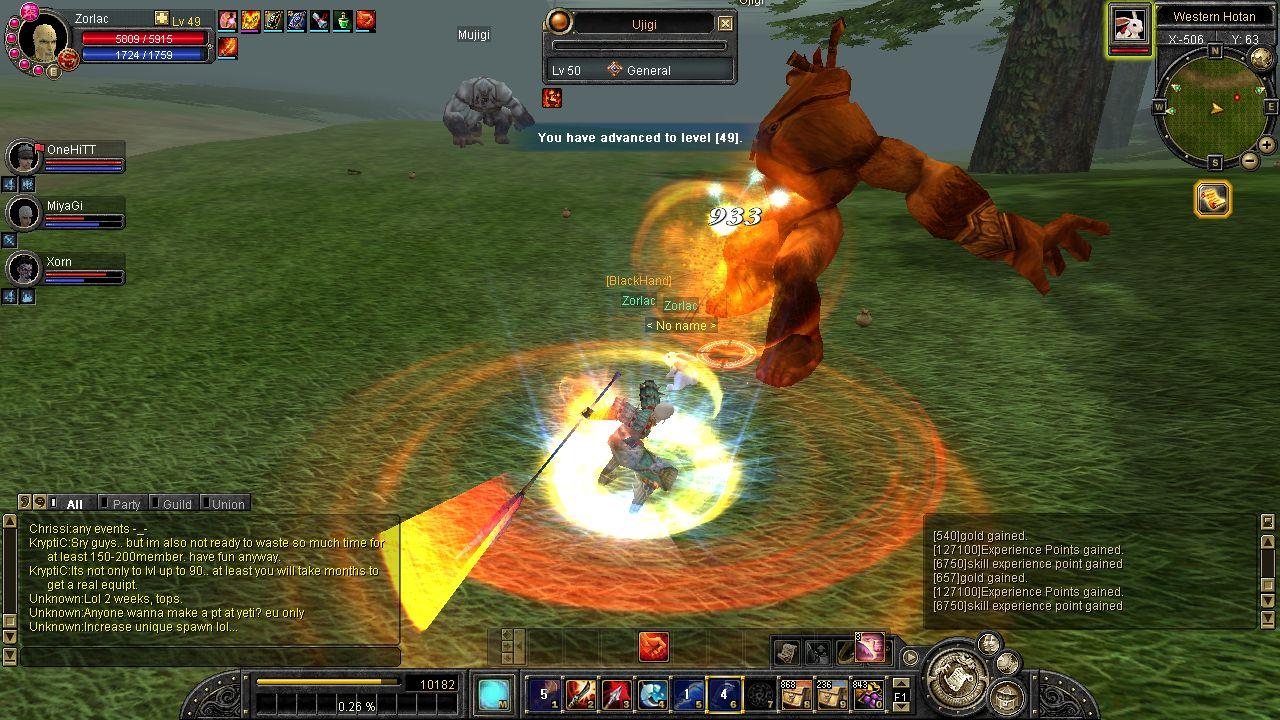 Silkroad oyunundan bir sahne. Aynı yaratığı yüzlerce kez öldüren bir oyuncunun ekran görüntüsü.